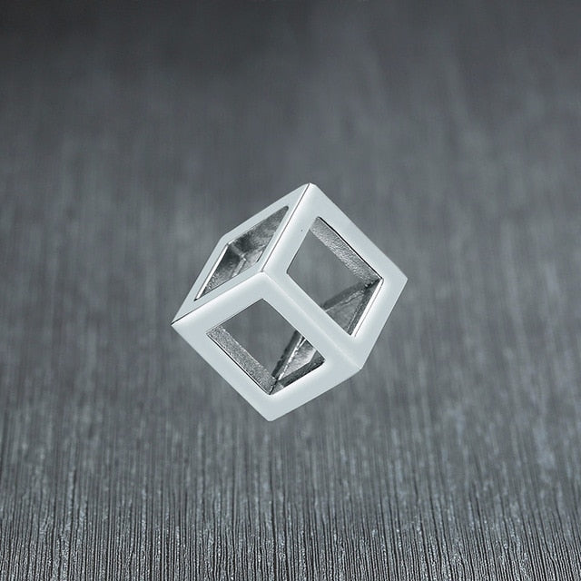 Retro Hollow Cube Pendant