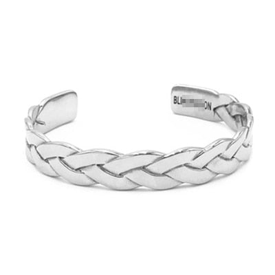 Twisted Braiding Titanium Wires Cuff Bangle