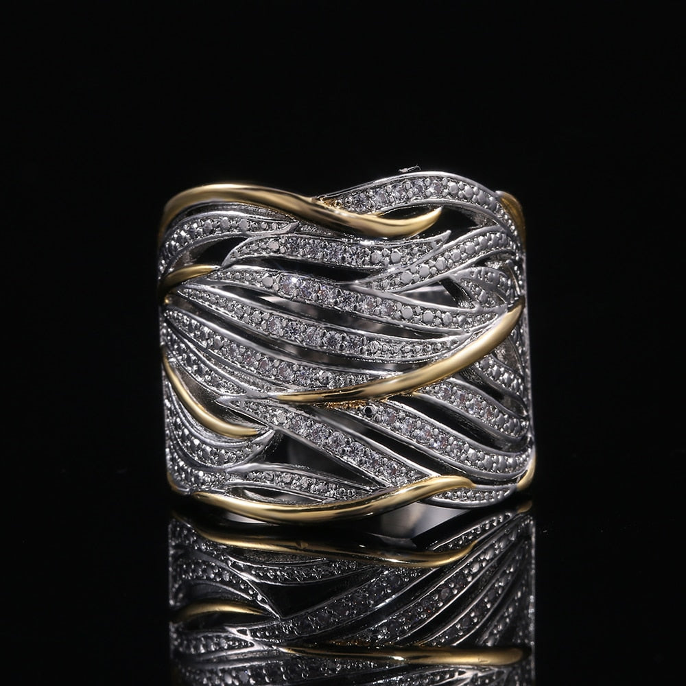 Two Tone Personality Women Ring