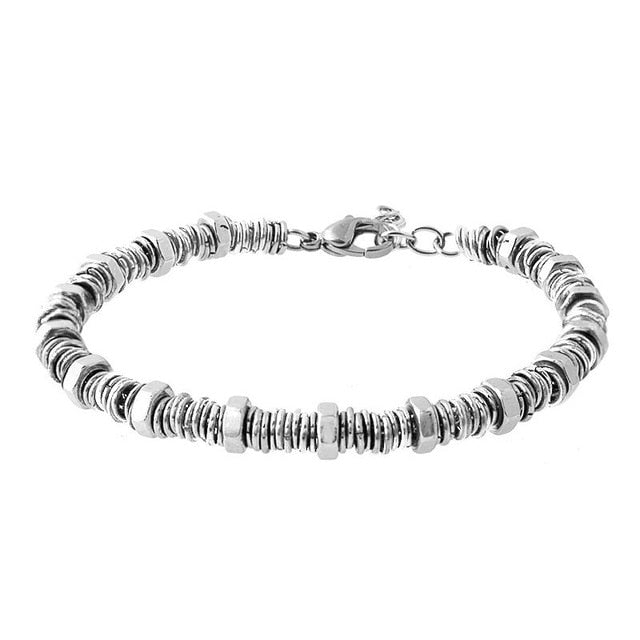 Stainless Steel O Screw Bracelet