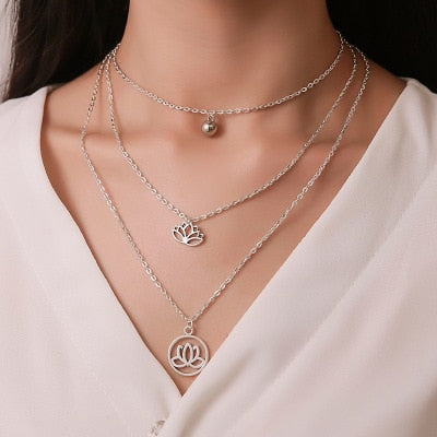 Womans Multilayer Necklaces Korean