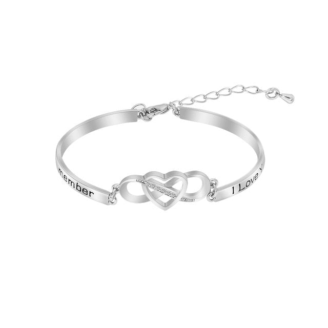 Symbol Cuff Bangle Bracelet Engraved