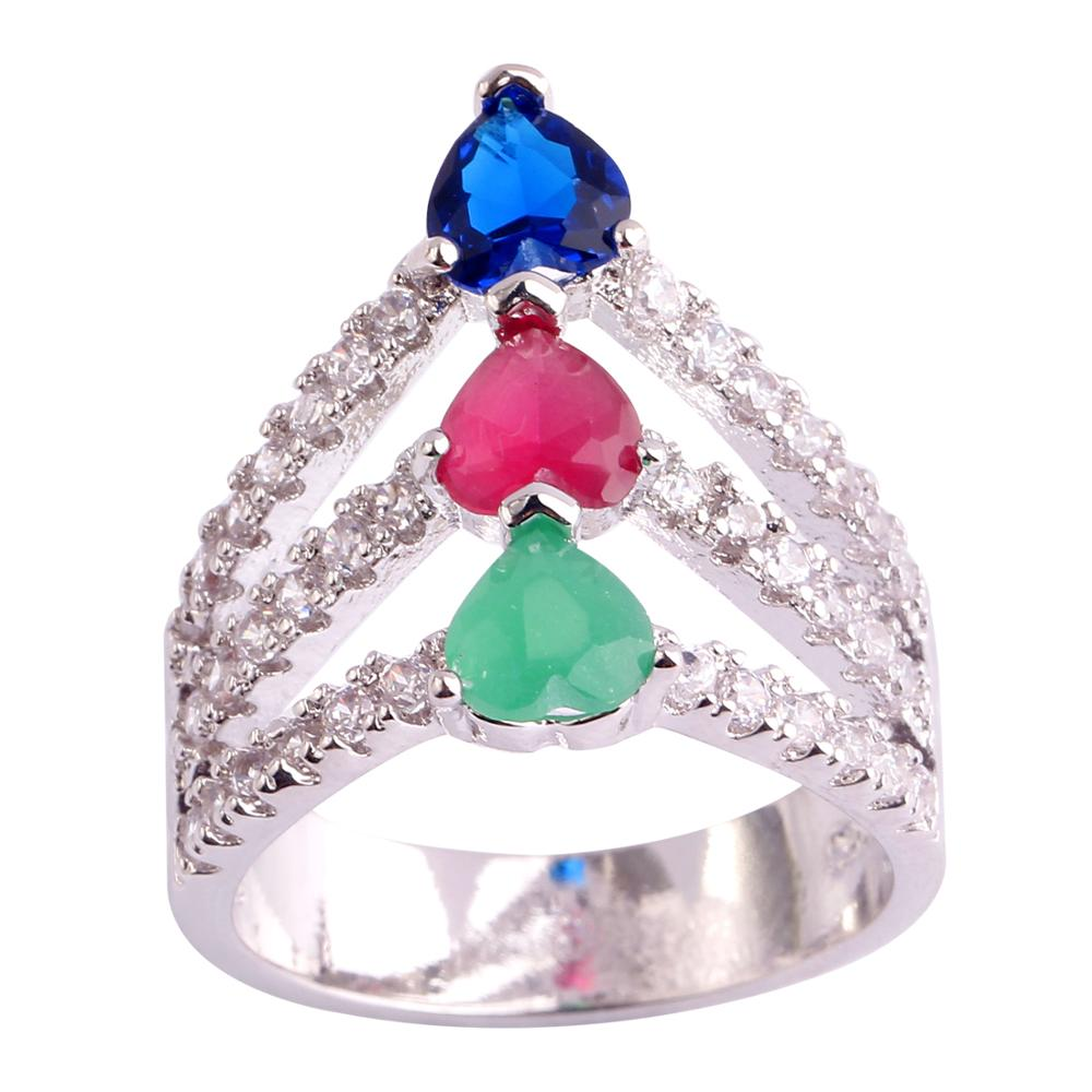 CZ Silver Color Women Ring