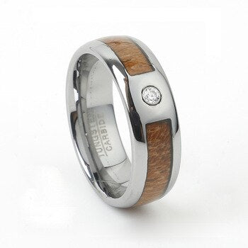 Unique Wood Tungsten Rings
