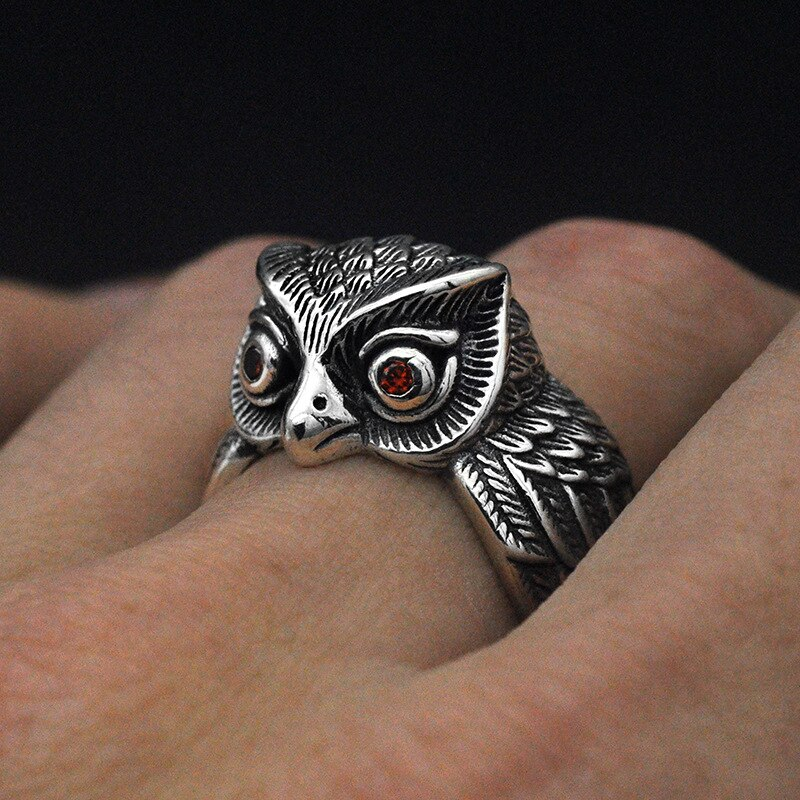 Owl Pure 925 Sterling Silver Ring