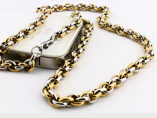 Titanium Necklace Gold/Silver/Black