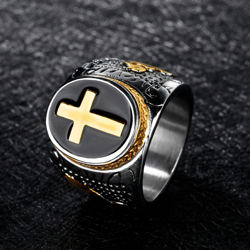 Men Ring Vintage Cross