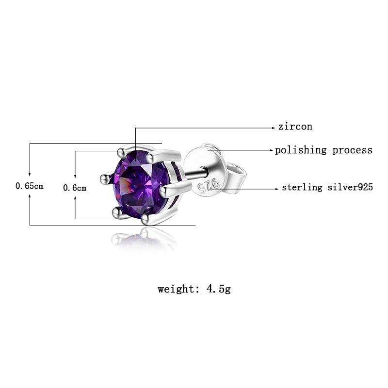 Female Stud Earrings 925