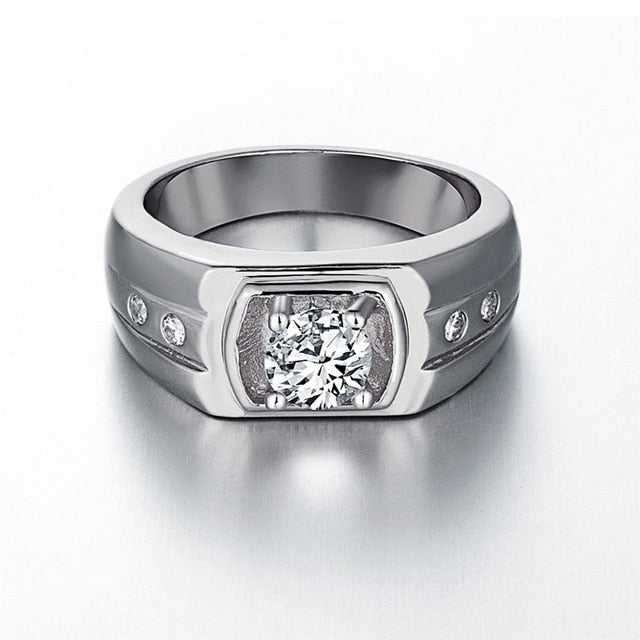 Zircon Jewelry Men Ring