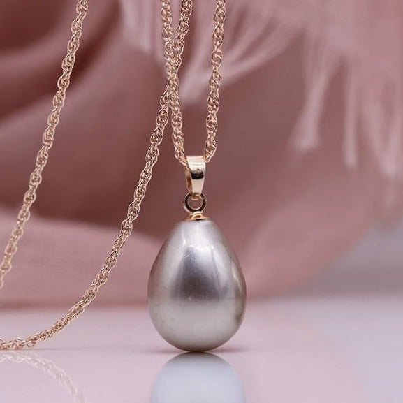 Water Drop Long Necklace Women