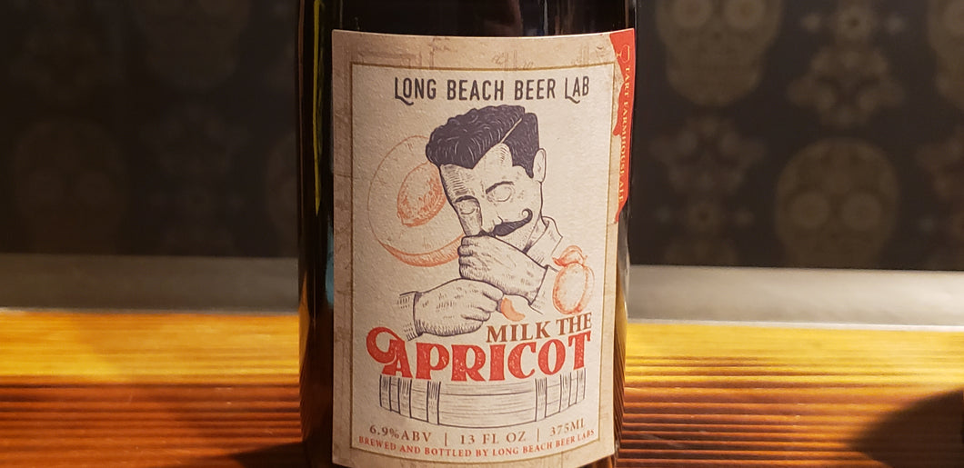 Long Beach Beer Lab, Milk the apricot 13oz