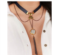 Boho Faux leather Choker