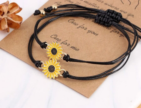 Together Forever Sunflower Bracelet Set The Bees Project