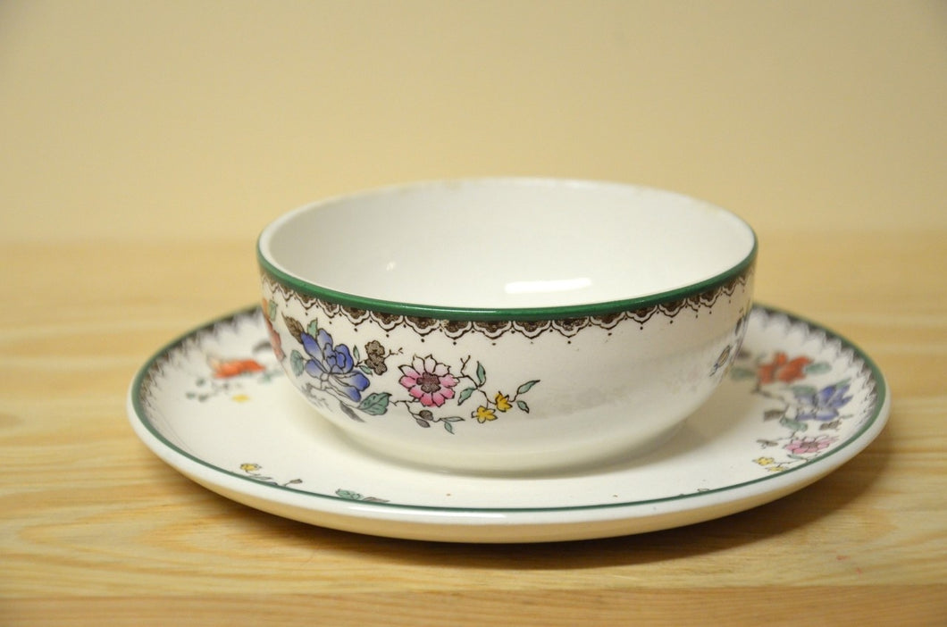 Spode Chinese Rose Unterteil der Butterdose