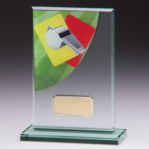 Referee Colour-Curve Jade Crystal Award 160mm
