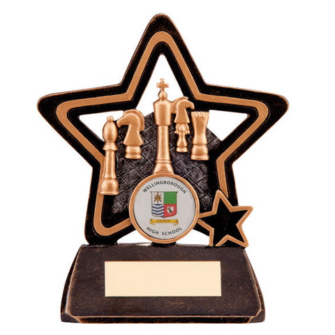 Little Star Chess Plaque 105mm