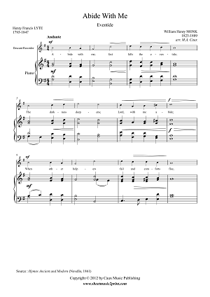 Abide With Me - Descant Recorder