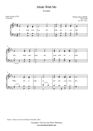 Abide with Me - Piano