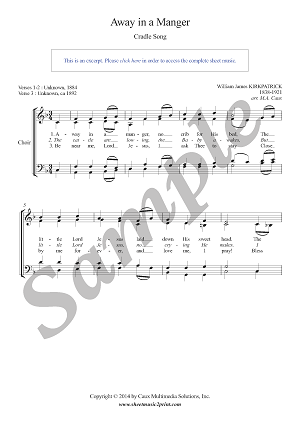 Kirkpatrick : Away in a Manger - Choir SATB