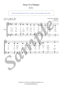 Murray : Away in a Manger - Choir SATB