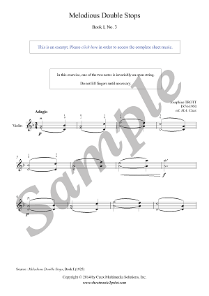Trott : Melodious Double Stops Book I, No. 3