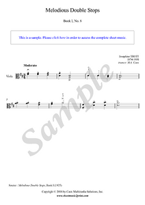 Trott : Melodious Double Stops, Book I, No. 8 - Viola