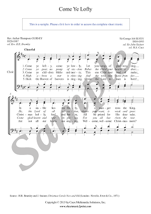 Come Ye Lofty - Choir SATB
