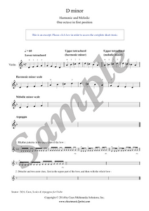 Violin : D minor Scales & Arpeggio - Grade 1