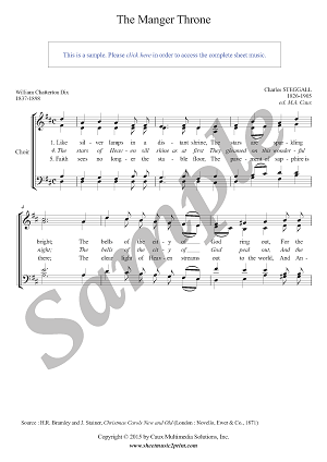 The Manger Throne - Choir SATB