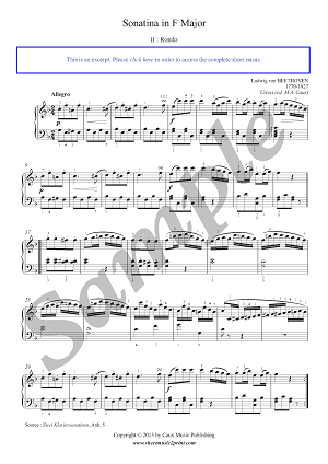 Beethoven : Sonatina in F Major (2/2)