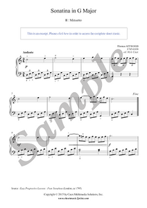 Attwood : Sonatina in G Major (II : Minuetto)