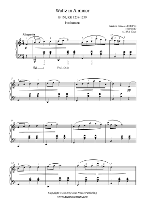 Chopin : Waltz in A minor, B 150