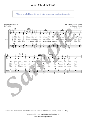 What Child Is This - Choir SATB