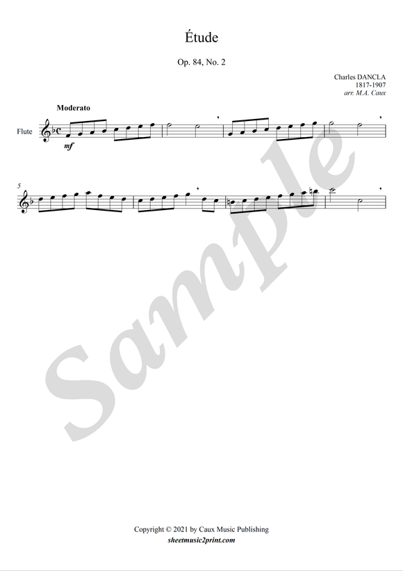 Study op. 84, no. 2 for flute
