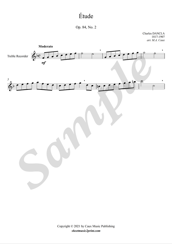 Study op. 84, no. 2 for treble recorder