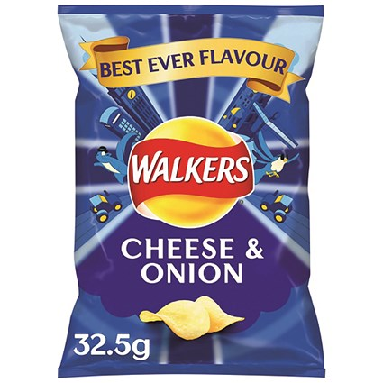 Walkers Cheese & Onion Crisps 32.5g