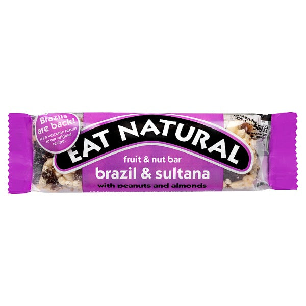 Eat Natural Fruit & Nut Bar - Brazil & Sultana 50g - Gluten Free