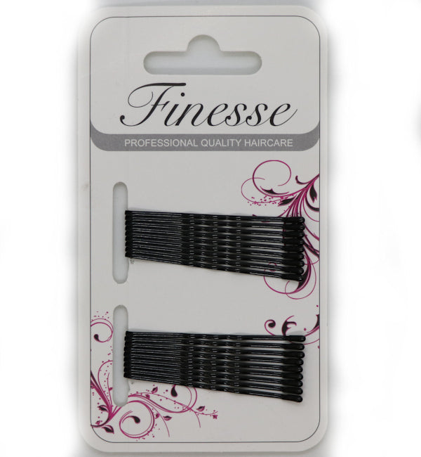 Finesse 18 Hair Grips - Black