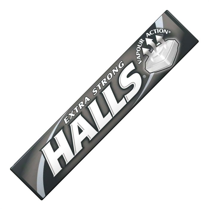 Halls Extra Strong with clearing menthol action