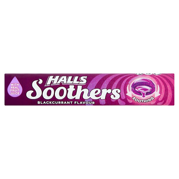 Halls Soother Blackcurrant Flavour
