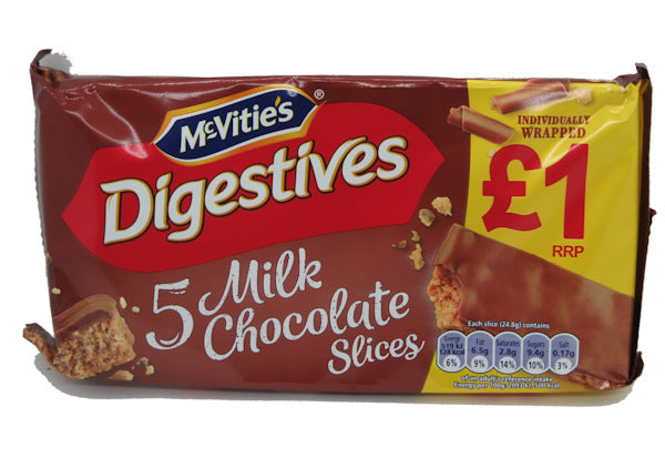 McVities 5 Milk Chocolate Digestive Slices