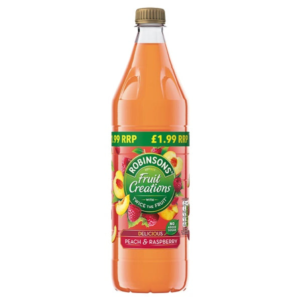 Robinsons Fruit Celebrations Peach & Raspberry to dilute 1 litre with no added sugar