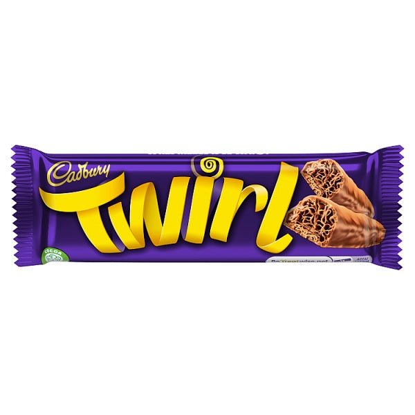 Cadbury Twirl  x 2 bars of 21.5g