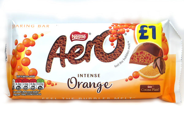 Aero Intense Orange Milk Chocolate Sharing Bar