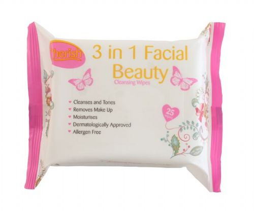 Cherish 3 in 1 Facial Beauty Cleansing Wipes