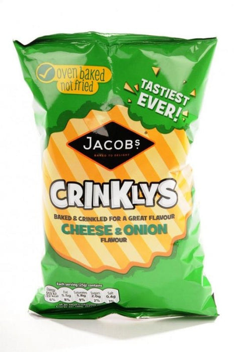 Jacobs Cheese & Onion Crinklys 50g