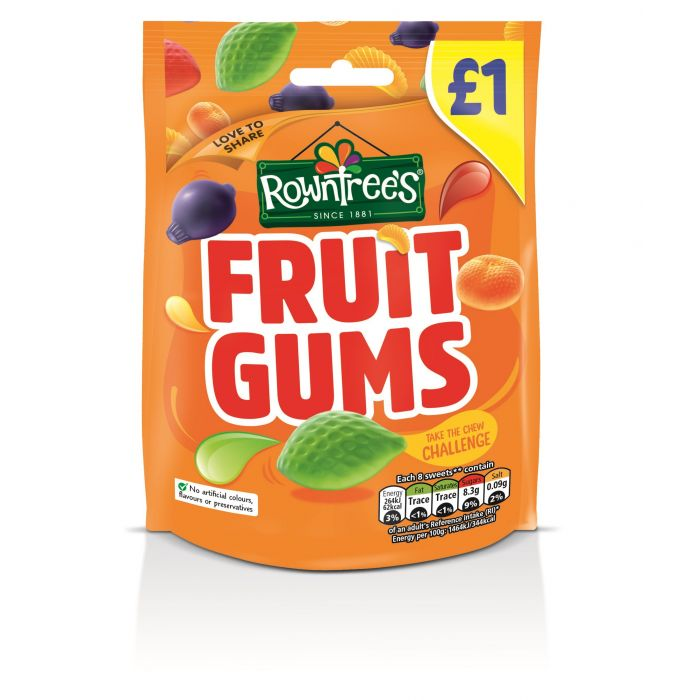 Rowntree's Fruit Gums Treat bag £1