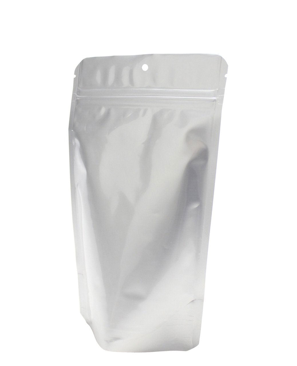 Stand Up Pouches - 5 x 8 x 3 - All Silver - Hang Hole 1,000pcs