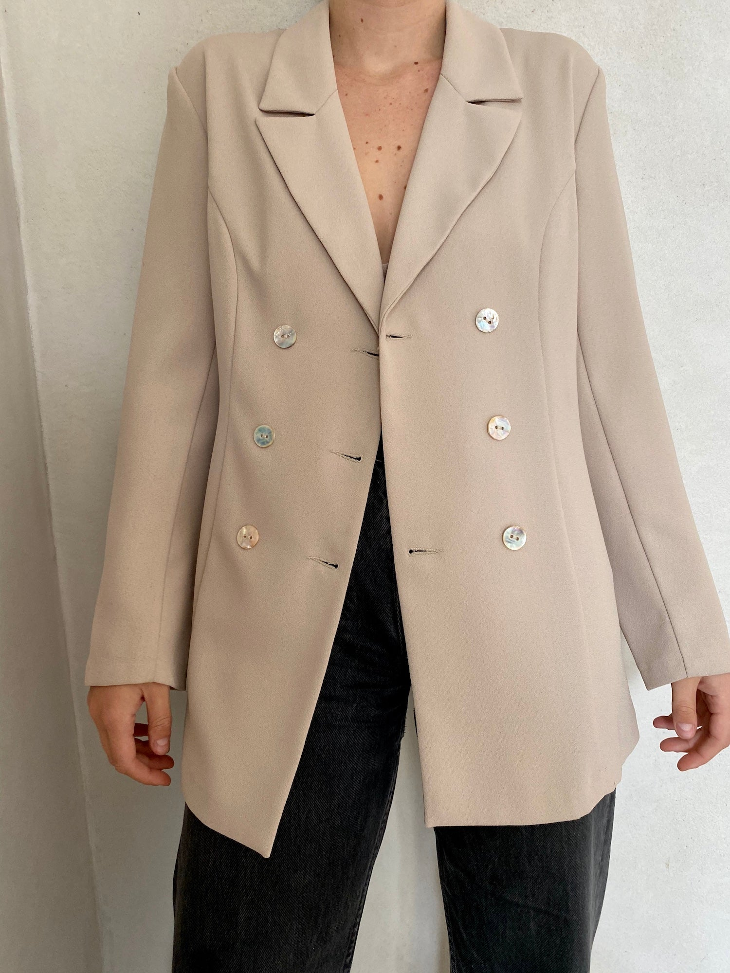 Double Button Row Blazer