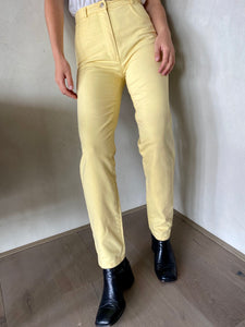 Vintage Yellow High Waisted Jeans